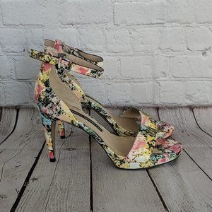 French Connection 8 Nata Multi Ankle Strap Sandals